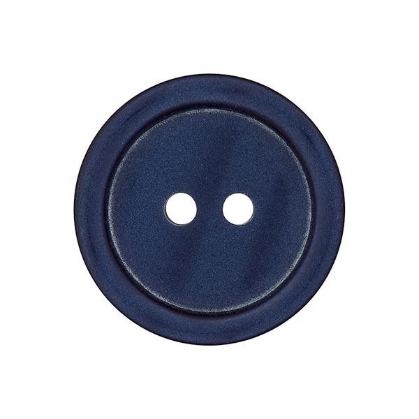 Bouton plastique 2 trous Basic - bleu marine