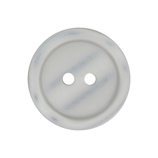 Bouton plastique 2 trous Basic - gris clair