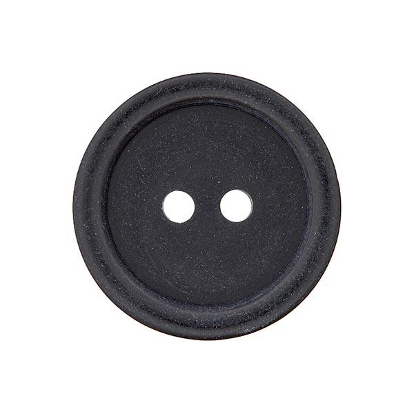 Bouton plastique 2 trous Basic - noir