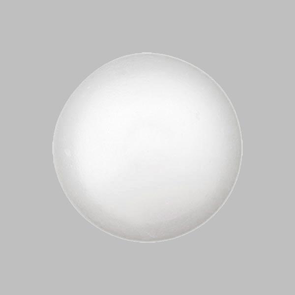 Bouton perle polyester Brillant - blanc