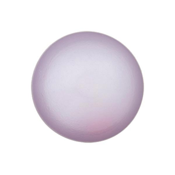 Bouton perle polyester Brillant - lilas