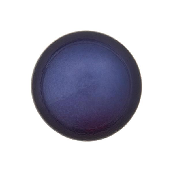 Bouton perle polyester Brillant - bleu marine