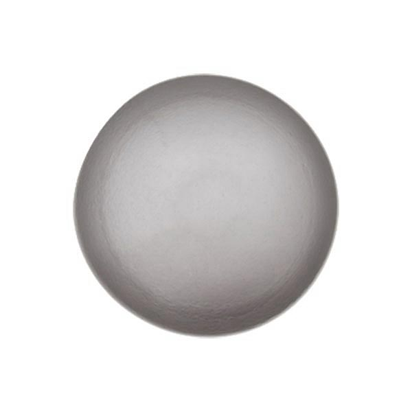Bouton perle polyester Brillant - gris