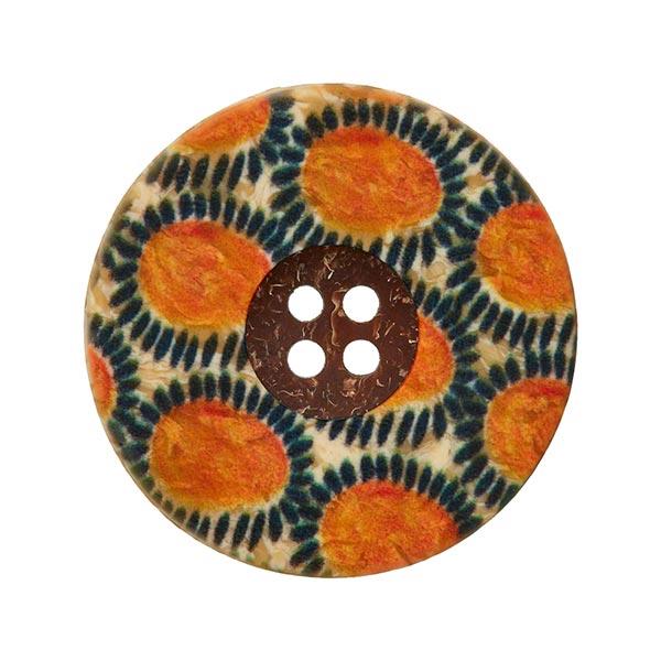 Bouton polyester Folklore - orange