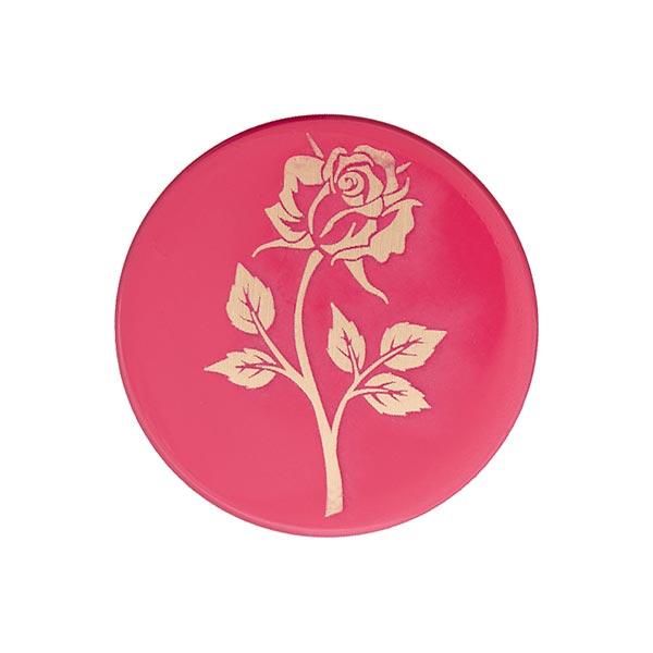 Bouton métal Rose sensual - rose vif