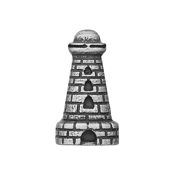 Bouton polyester Phare - argent vieilli