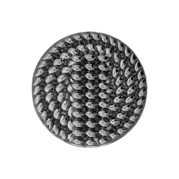 Bouton métal Twista - argent vieilli