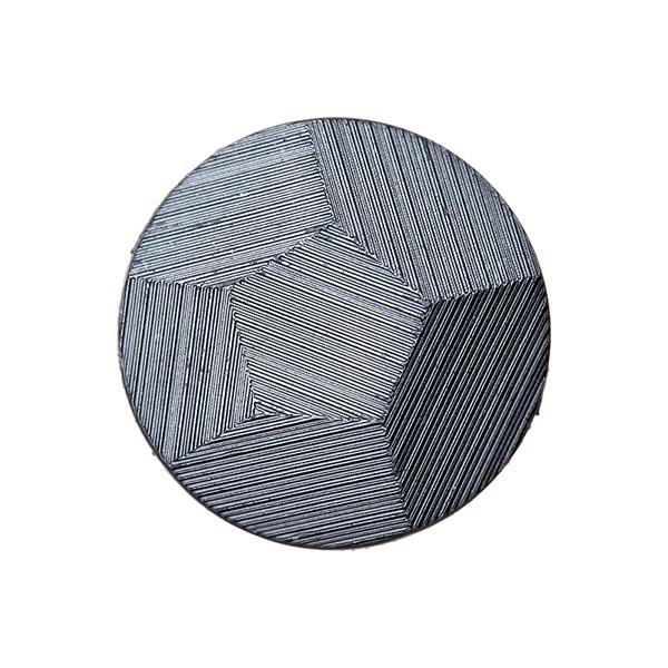 Bouton polyester métallisé sensual - argenté