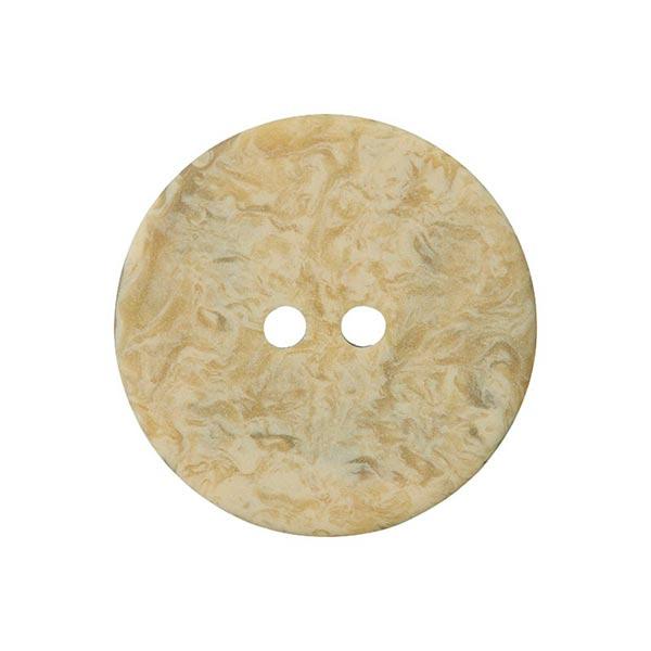Bouton polyester Marbre - crème