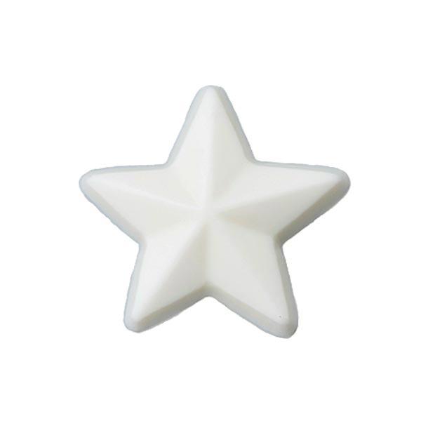 Bouton polyester à queue Étoile - blanc cassé