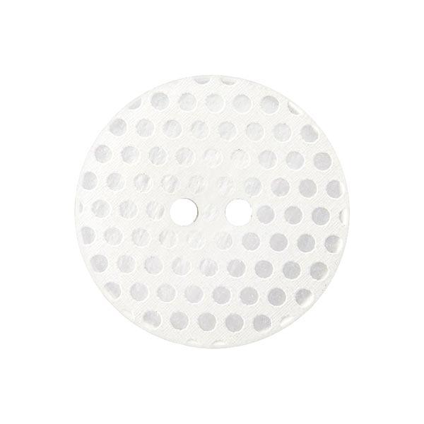 Bouton polyester 2 trous – blanc