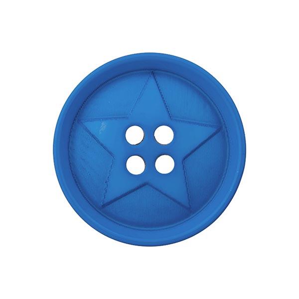 Bouton polyester Étoile  - bleu