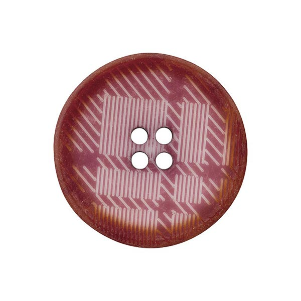 Bouton polyester 4 trous Carreaux – framboise