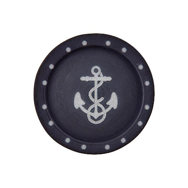Bouton polyester à queue Ancre  - noir