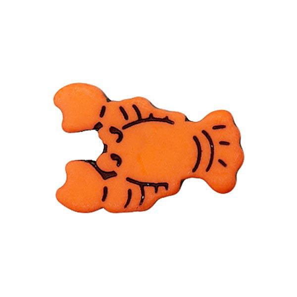 Bouton à queue polyester Homard  - orange