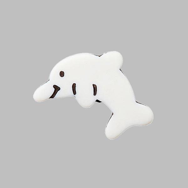 Bouton à queue polyester Dauphin  - blanc