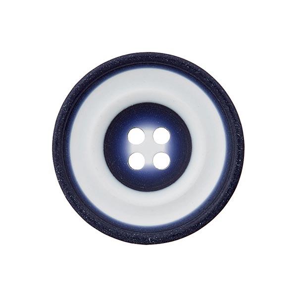 Bouton polyester Loop - bleu marine / blanc