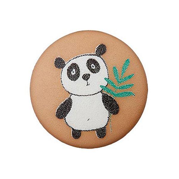 Bouton polyester Œillet Panda – marron clair