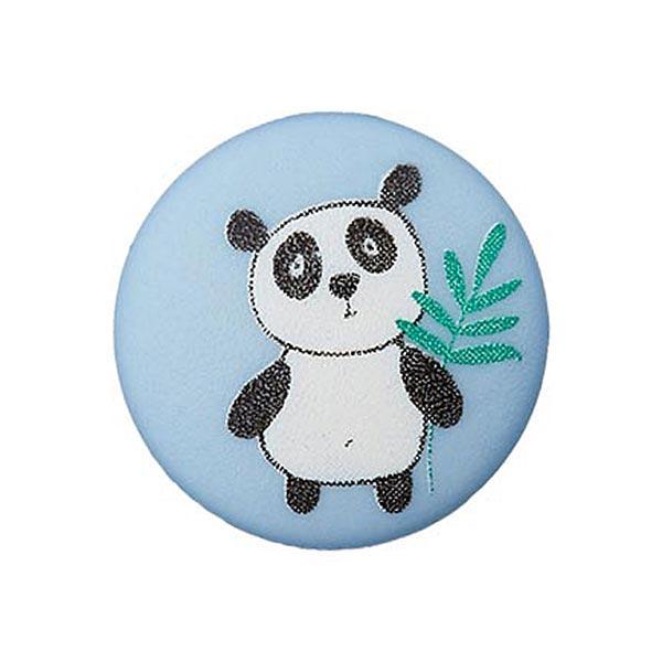 Bouton polyester Œillet Panda – bleu clair