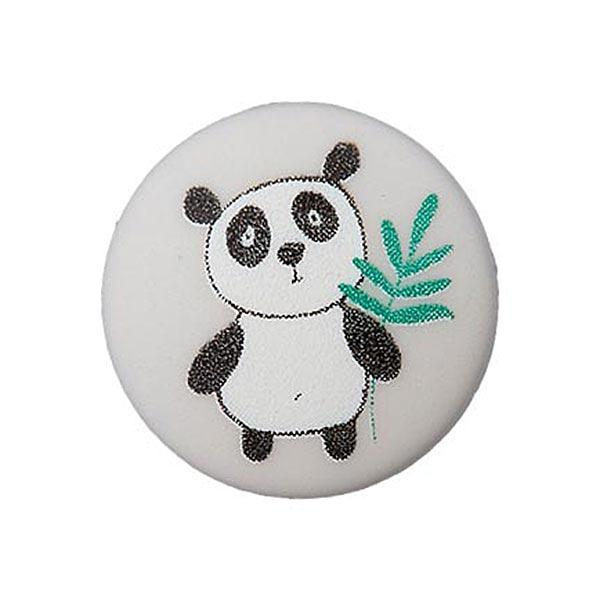 Bouton polyester Œillet Panda – blanc