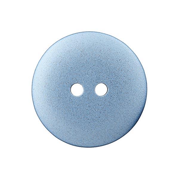 Bouton en polyester Metallic 2 trous – bleu clair