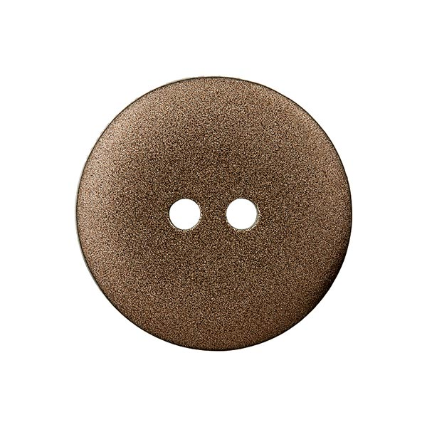 Bouton en polyester Metallic 2 trous – marron