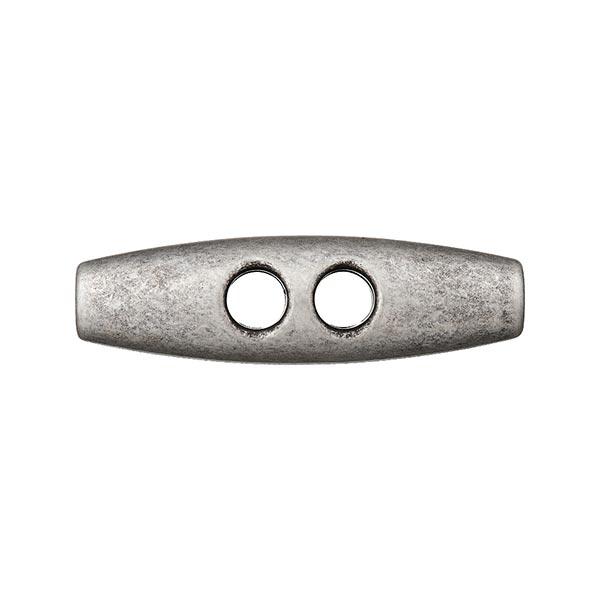 Bouton à duffle coat en polyester métallisé – argent ancien