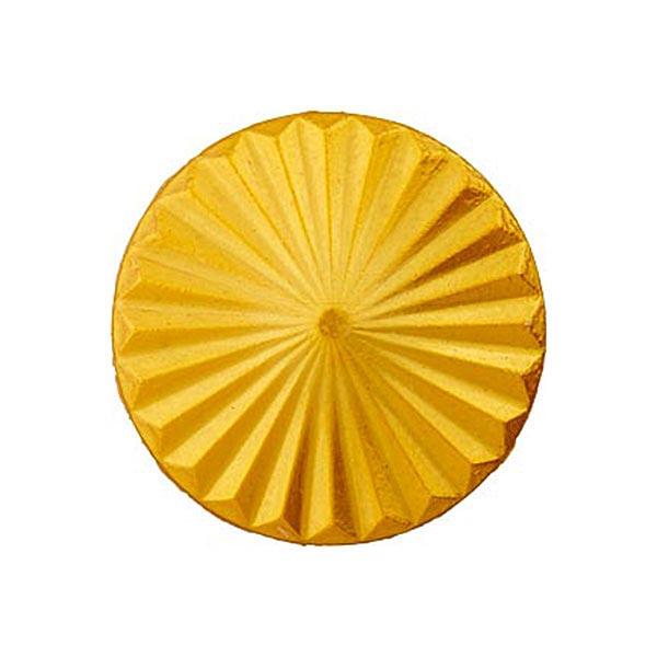 Bouton à queue – jaune soleil