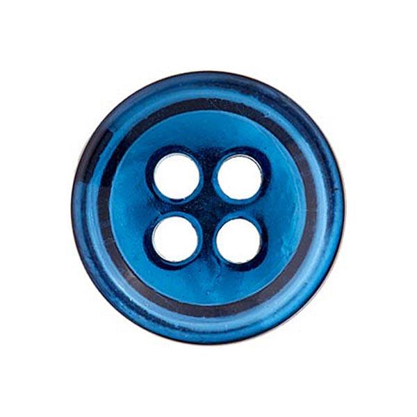 Bouton polyester 4 trous [11mm] – bleu