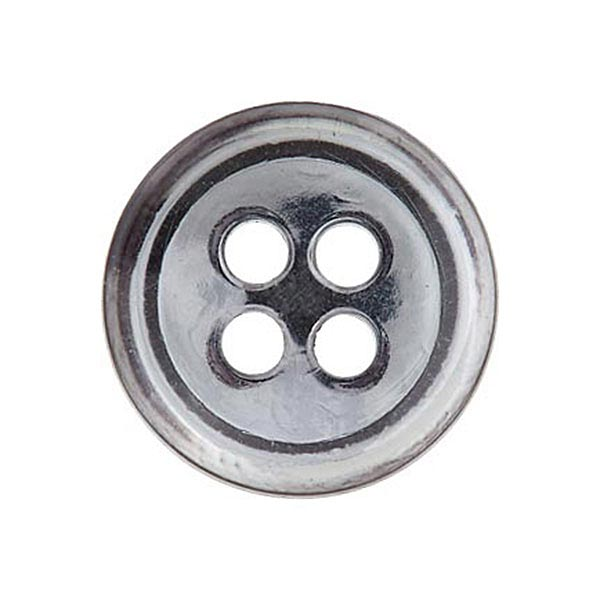 Bouton polyester 4 trous [11mm] – gris clair