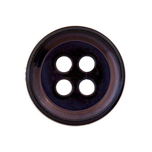 Bouton polyester 4 trous [11mm] – noir