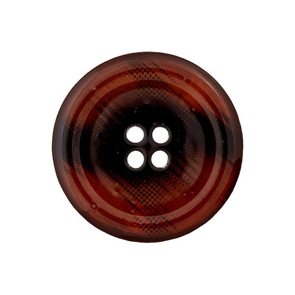 Bouton polyester 4 trous – marron