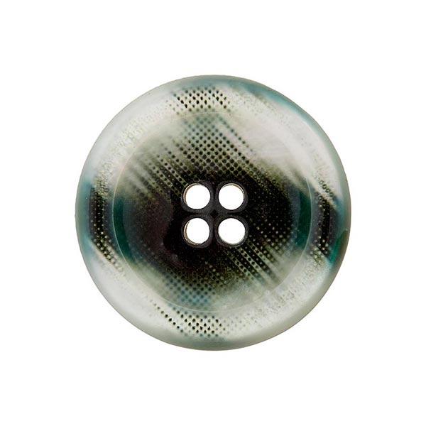 Bouton polyester 4 trous – gris/noir