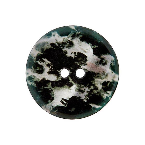 Bouton polyester 2 trous – gris clair/noir