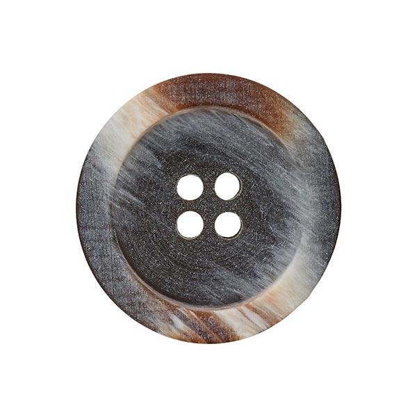 Bouton polyester 4 trous – marron rouge/gris