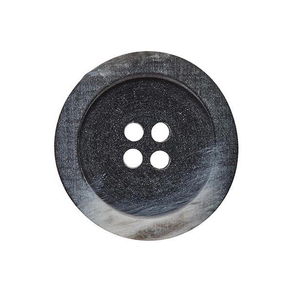 Bouton polyester 4 trous – noir