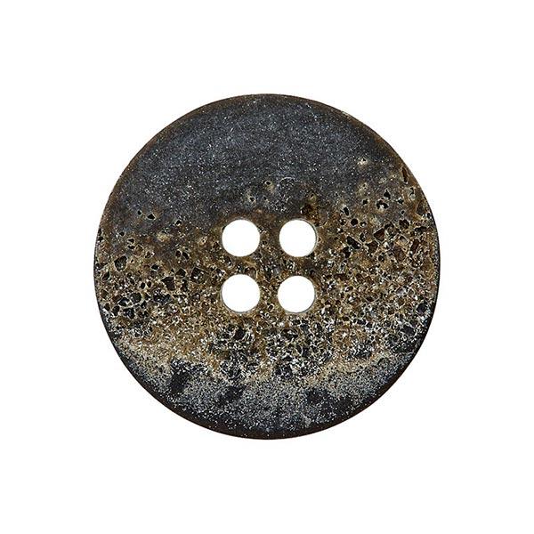 Bouton polyester 4 trous – gris foncé/marron