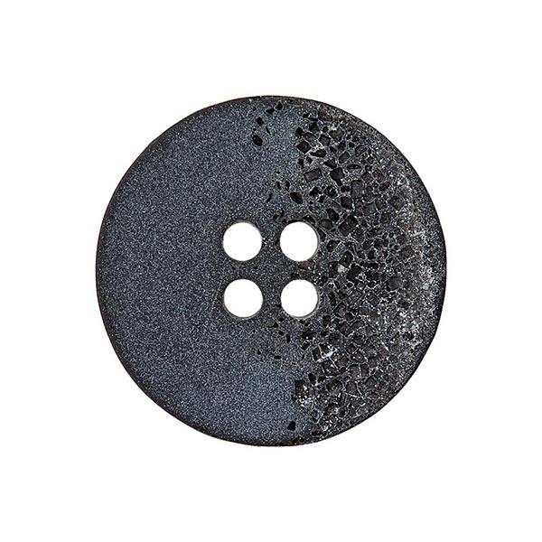 Bouton polyester 4 trous – noir/gris