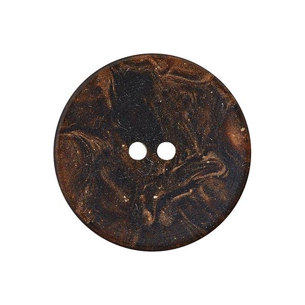 Bouton polyester 2 trous – marron foncé