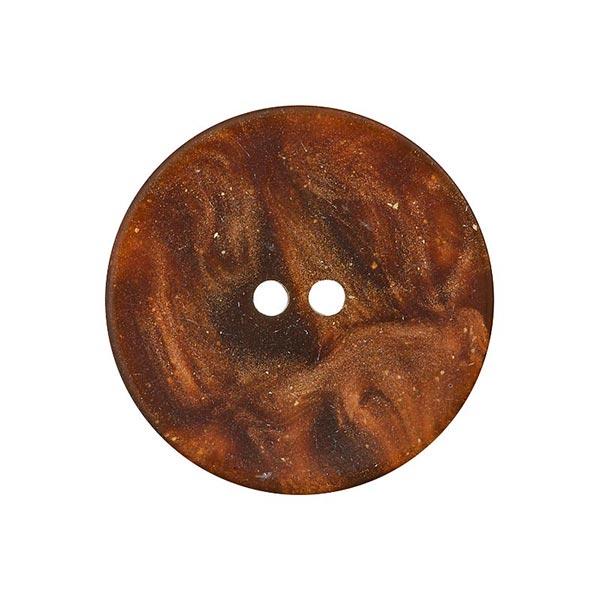 Bouton polyester 2 trous – marron