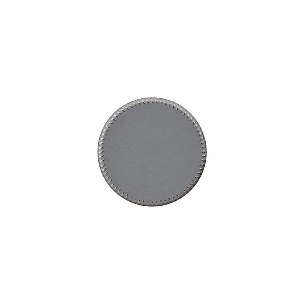 Bouton à queue polyester métal [ 15 mm ] – gris
