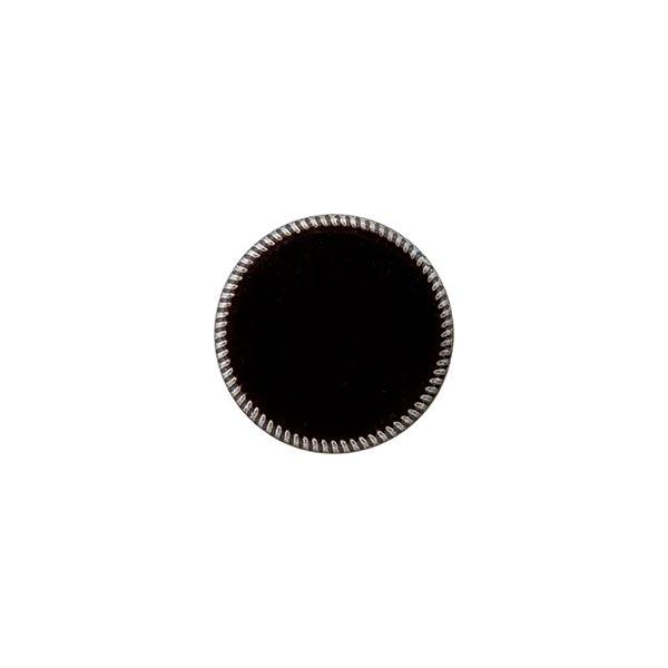 Metall-Polyesterknopf Öse [ 15 mm ] – schwarz