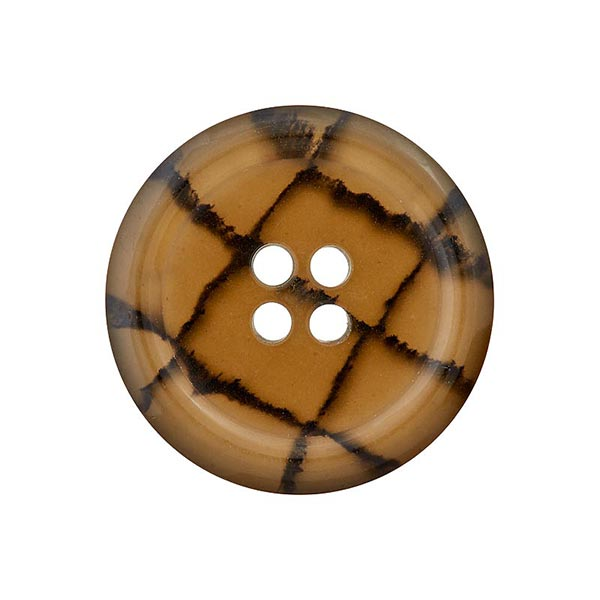 Bouton polyester 4 trous Recycling – bronze/marron foncé