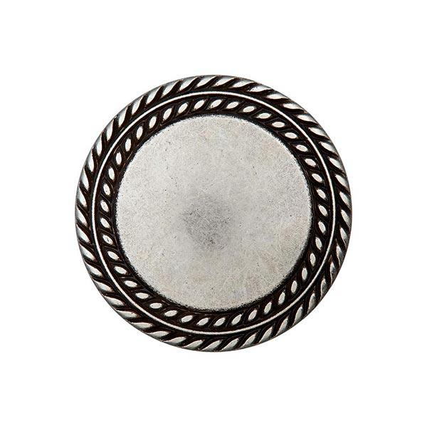 Bouton en métal œillet – argent ancien