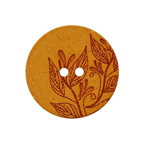 Hanf/Polyesterknopf Recycling 2-Loch – terracotta