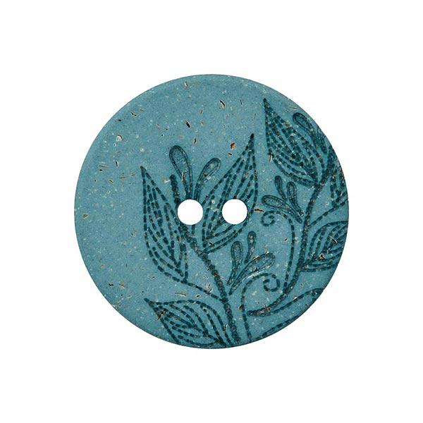 Hanf/Polyesterknopf Recycling 2-Loch – mintgrün