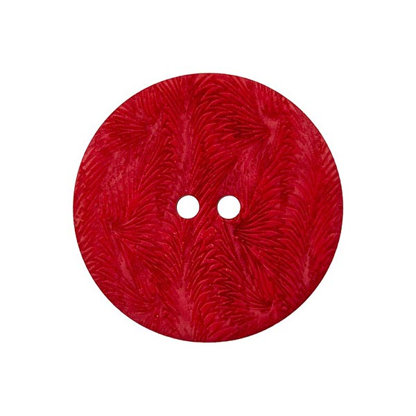 Bouton corozo 2 trous [ 15 mm ] – rouge vif