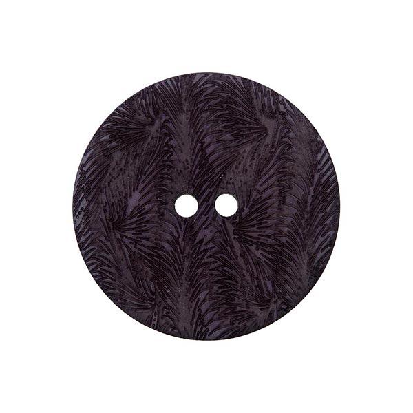 Bouton corozo 2 trous [ 15 mm ] – gris foncé