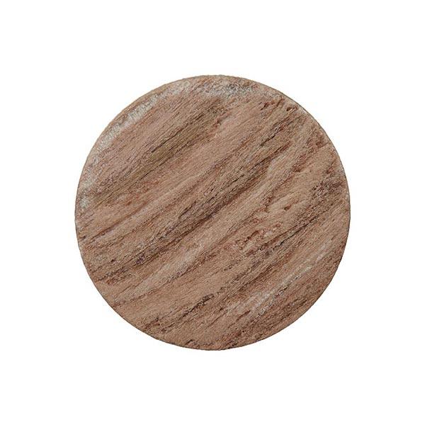 Bois/Bouton en métal avec œillet – marron clair