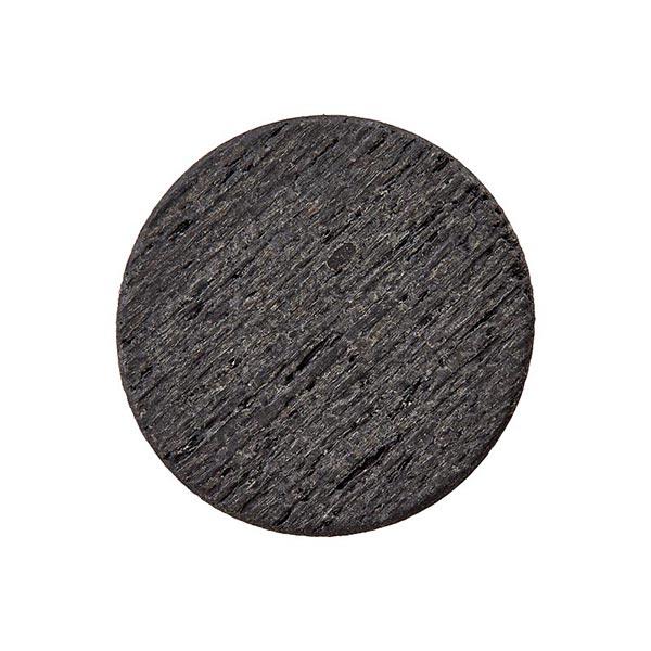 Bois/Bouton en métal avec œillet – gris foncé